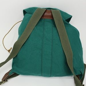 Vintage Bags - Vintage Green Canvas Backpack
